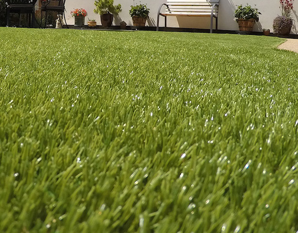 Artificial grass looks natural
