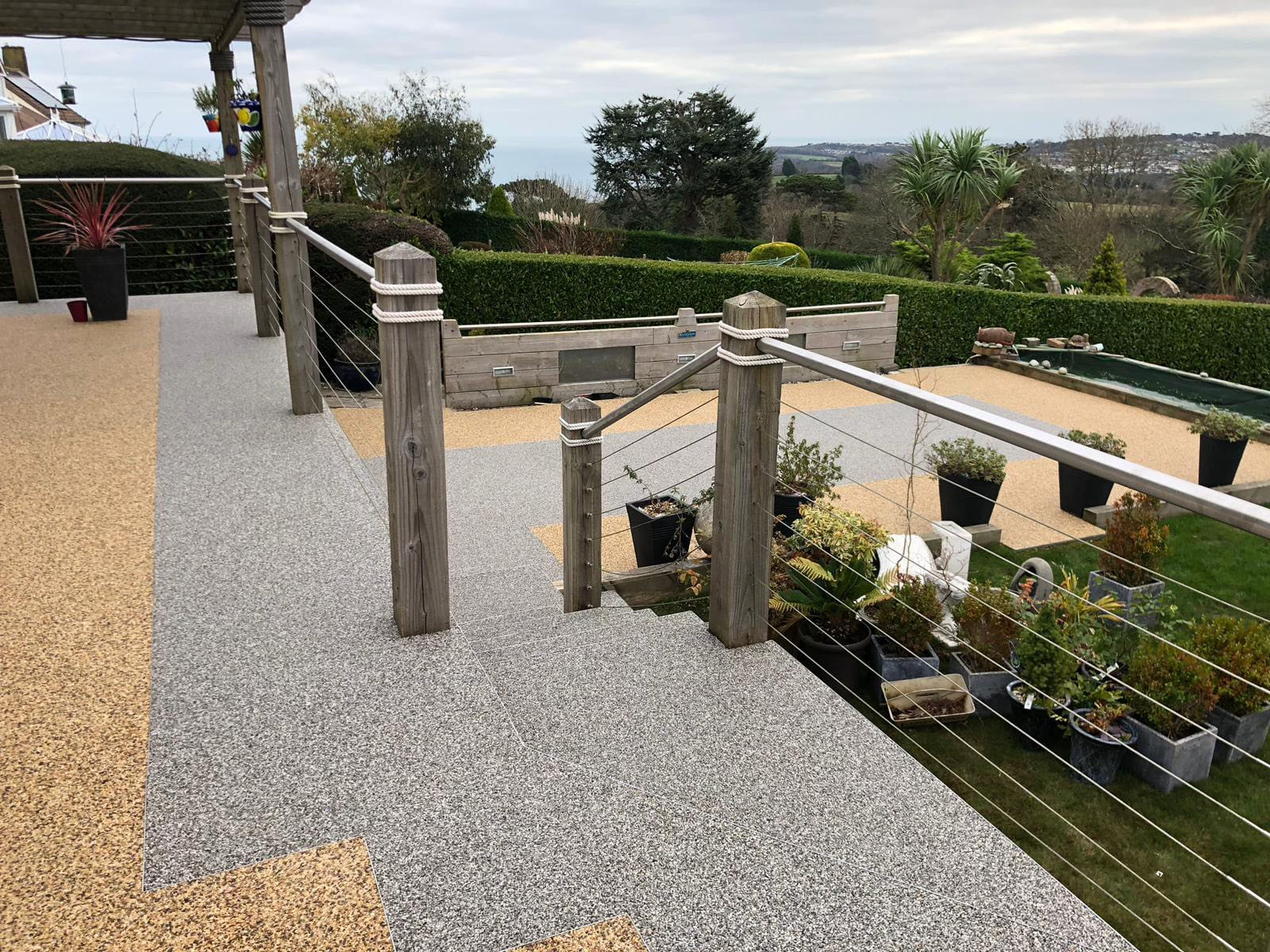 A stunning resin patio