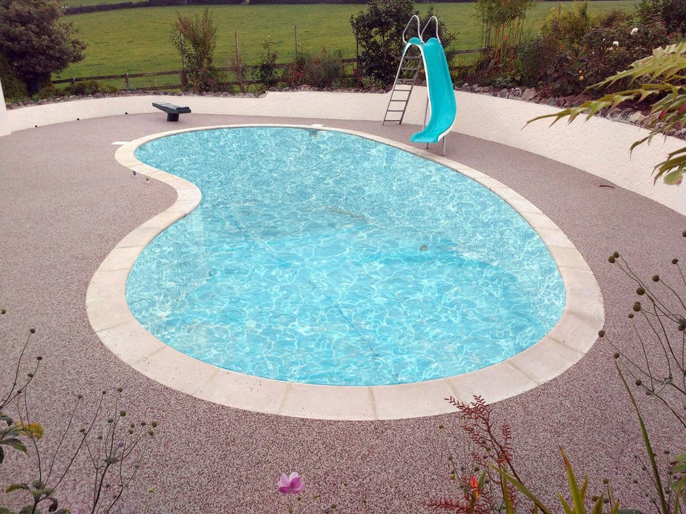 A stunning resin pool surround
